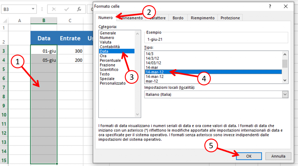tipo data excel